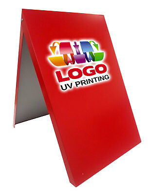 A-board Pavement Sign Advertising Menu Sandwich Board Metal Frame Red Mlr Uv • 70£