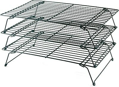 Buckingham 3 Tier Stackable Non-Stick Cake Cooling Rack Cakes, Cupcakes Biscuits • 10.99£