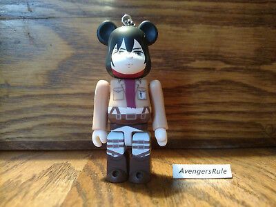 $9.95 • Buy Bearbrick Attack On Titan Keychain Medicom Mikasa Ackermann