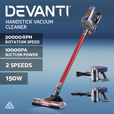 AU179.90 • Buy Devanti Handheld Vacuum Cleaner Cordless Stick Handstick Vac Bagless 2-Speed Red