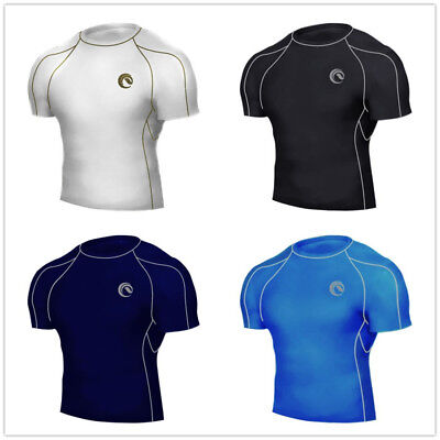 Mens CoolBase Compression Under Base Layer Shirt Top Short Sleeve Skin Armour • 7.99£
