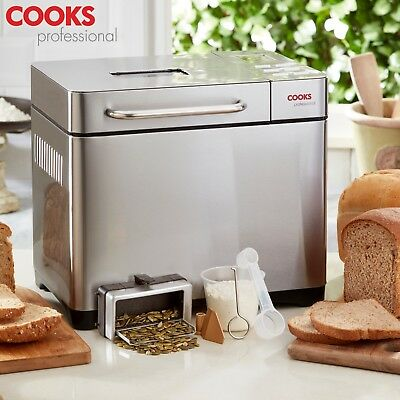 View Details Cooks Professional Digital Bread Maker Machine 19 Modes Seed Dispenser & Timer • 94.99£