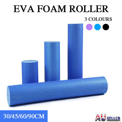 AU19.99 • Buy EVA Yoga Foam Roller Physio Back Training Pilates GYM Home Back Exercise Massage