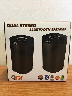 $ CDN63.30 • Buy NEW QFX Rechargeable Dual Stereo Bluetooth Speaker BT-275 Black