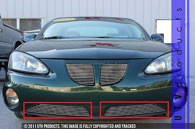 $119 • Buy GTG 2004 - 2008 Pontiac Grand Prix 2PC Polished Bumper Billet Grille Kit
