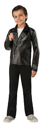£25.23 • Buy Kids T Birds Faux Leather Jacket Grease Costume 50's Child Size Small 4-6