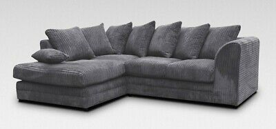 *** BRAND NEW*** Luxor Modern Grey Fabric Corner Sofa Cheap LEFT & RIGHT 3 Or 2  • 369£