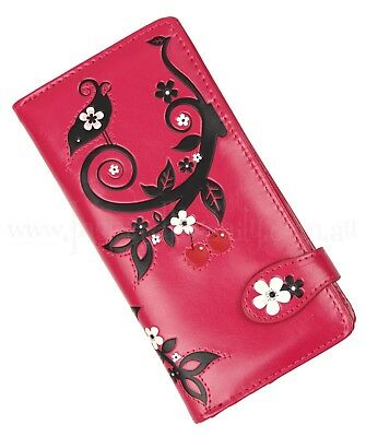 Rockabilly SWALLOW + CHERRY BLOSSOM Wallet ~ Retro Vintage Pinup Ladies Purse • 20.44£