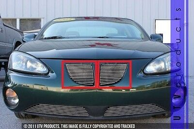 $144 • Buy GTG 2004 - 2008 Pontiac Grand Prix 2PC Polished Replacement Billet Grille Kit