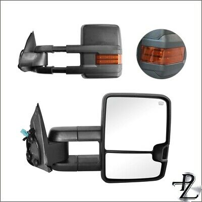 $123.53 • Buy Power Heated Amber Signal Tow Towing Mirror Pair Set For 03-07 Silverado Sierra