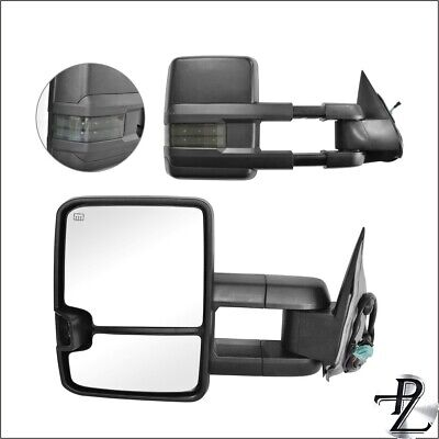 $123.53 • Buy Power Heated Smoke Signal Tow Towing Mirror Pair Set For 03-07 Silverado Sierra