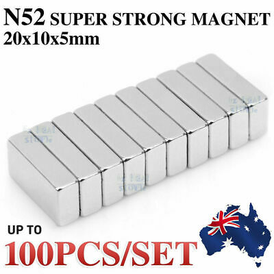 AU8.79 • Buy N52 Super Strong Magnets Block Rare Earth Cuboid Neodymium Super Strong Magnet
