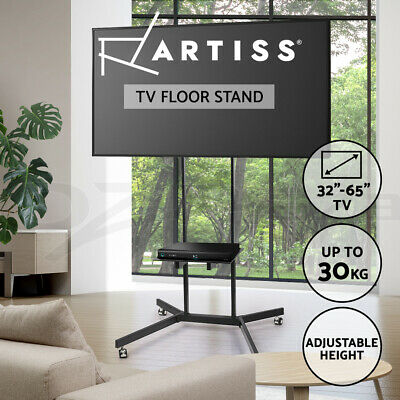 AU99.95 • Buy Artiss Mobile TV Stand Mount Bracket 32 To 65 Inch Trolley Wheels Universal