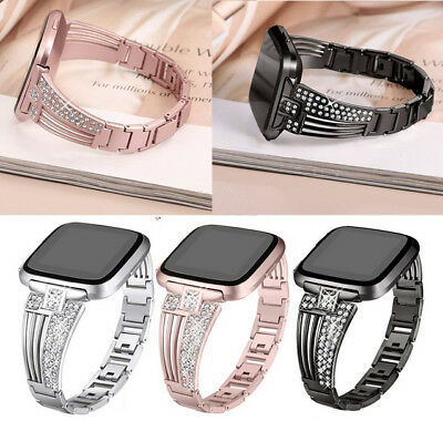 $ CDN17.42 • Buy For Fitbit Versa Watch Band Strap Alloy Metal Bracelet Bling Lady Wrist Band