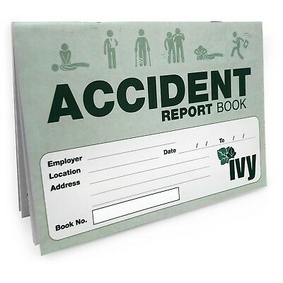 £3.99 • Buy Ivy - Accident Report Book - 14.7 X 21cm - 48 Pages - BK1021