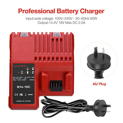 AU40.99 • Buy 18V Charger For Milwaukee Red Lithium Battery M18 48-11-1840 M18B4 48-11-1852