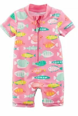 06ada6efa NWT CARTER'S GIRLS SWIMSUIT SWIM One-piece Rashguard FISH U Pick Size •  7.76$