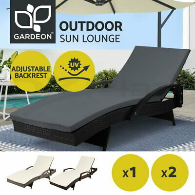 AU448.95 • Buy Gardeon Outdoor Furniture Sun Lounge Patio Rattan Wicker Lounger Day Bed Sofa