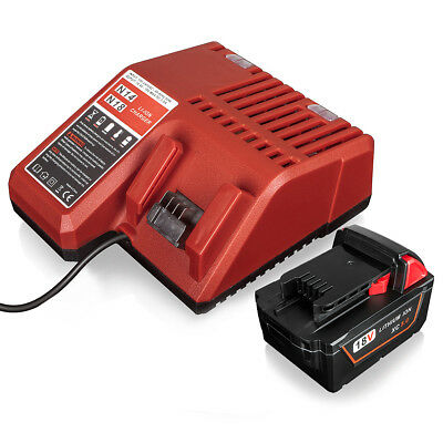 AU86.99 • Buy 5.0AH 18V Lithium Ion Battery & 14.4V-18V Fast Charger For Milwaukee M18 M18B4