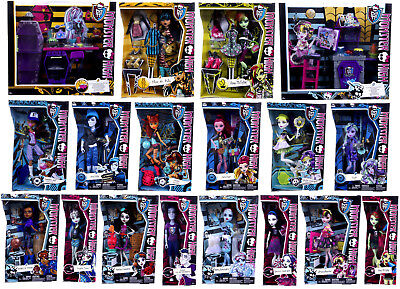 £9.99 • Buy New Official Monster High Dolls Cleo Frankie Draculaura Clawdeen Accessories