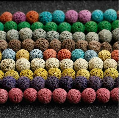 $ CDN1.65 • Buy 8MM Natural Stone Beads Lava Rock Round Jewelry Making Gemstone U Pick Colour