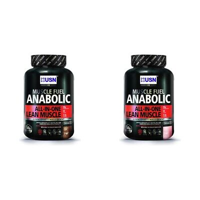 USN Muscle Fuel Anabolic 2kg All-in-One High Protein Shake - Choice Of Flavour. • 27.99£