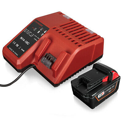 AU40.89 • Buy For Milwaukee M18 48-11-1840 Red Li-ion Battery & 18V Li-ion Battery Charger
