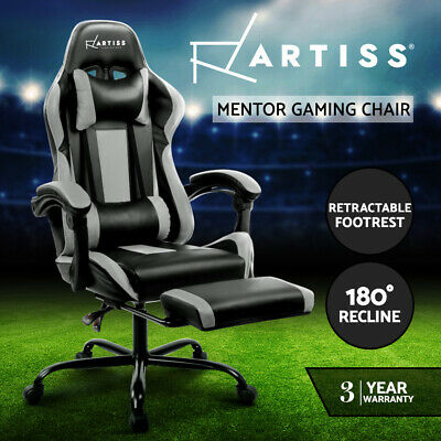 AU239 • Buy Artiss Gaming Office Chair Computer Chairs Leather Seating Racing Racer Black