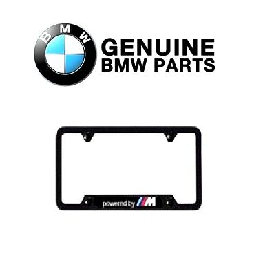 $99.18 • Buy For Genuine For BMW  Powered By M  Carbon Fiber License Plate Frame Black- One