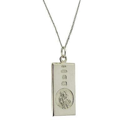 TOC Sterling Silver St Christopher Hallmarked Ingot Pendant Necklace 18  • 29.95£