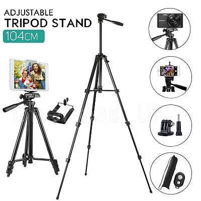 Universal Telescopic Camera Tripod Stand Phone Holder For IPhone Samsung Sony UK • 8.59£