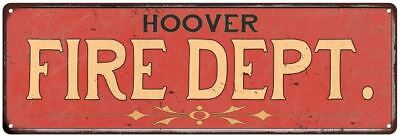HOOVER FIRE DEPT. Home Decor Metal Sign Police Gift 106180013376 • 39.14£