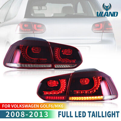 AU369.99 • Buy Red Clear LED Sequential Tail Lights For 2010-2014 Volkswagen Golf 6 MK6 GTI R