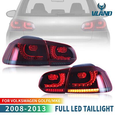 AU369.99 • Buy Red Smoked LED Sequential Tail Lights For Volkswagen Golf 6 MK6 GTI R 2010-2014
