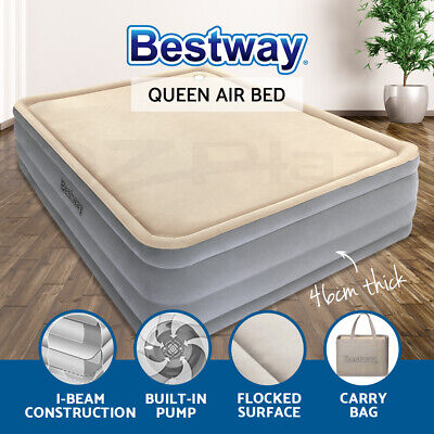 AU117.90 • Buy Bestway Air Bed Beds Queen Size Inflatable Mattress Built-in Pump Foam Luxury