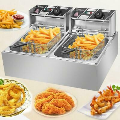 $96.99 • Buy ZOKOP 5000W 12L Stainsteel Electric Deep Fryer Dual Tank Commercial Restaurant