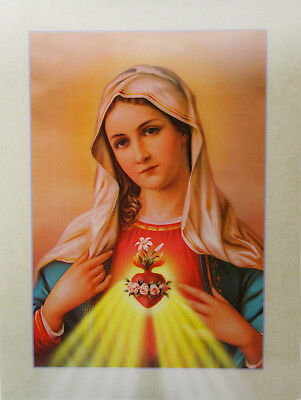 AU20.91 • Buy 3D Lenticular Poster -Our Lady Of Immaculate Heart -12x16 Print