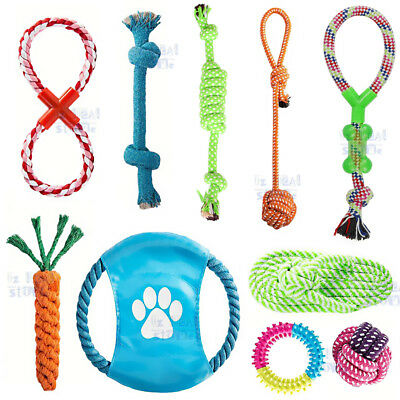 AU25.29 • Buy 10PC Dog Rope Toys Nolsen Pet Puppy Chew Toy Gift Set Durable Cotton Clean Teeth