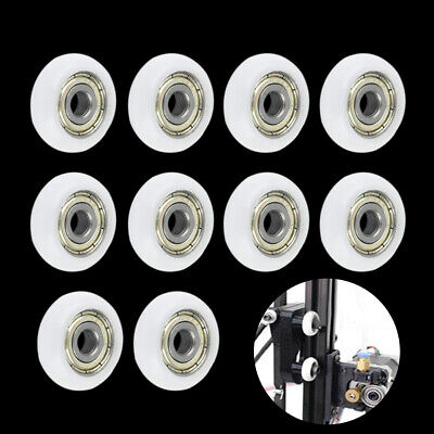 $5.45 • Buy 10 Pcs N Plastic Nylo Embedded Roller Groove Ball Bearings 5*23*7mm Guide Pulley