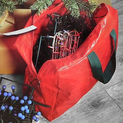 Christmas Xmas Tree Lighting Storage Zip Handled Bag For 3 Sets Of Lights • 3.79£