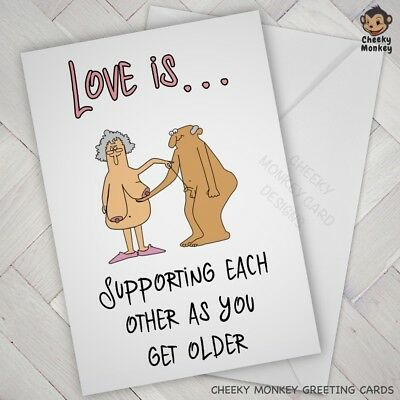 Funny ANNIVERSARY VALENTINES CARD Rude Wife Husband BIRTHDAY Adult Partner Dad • 2.85£