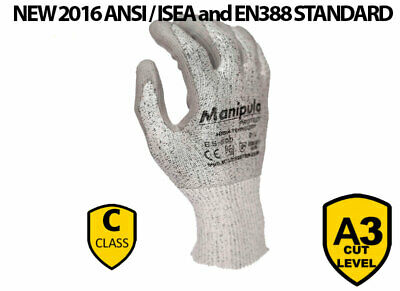 £6.50 • Buy 12 Pairs Safety Pu Anti Cut Protection Work Gloves Abrasion Resistance Builders