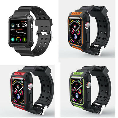 $ CDN4.56 • Buy For Apple Watch Series 4 Armor Band Case 40mm/44mm Rugged Protective Strap Cover