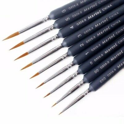 $4.59 • Buy 9pcs Artist Weasel Hair Brush Pen For Gouache Watercolor Paint Oil Painting Gift