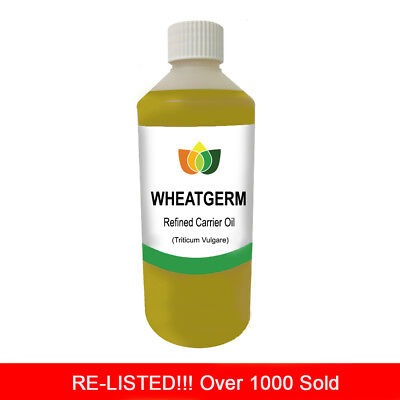 £14.49 • Buy 1L WHEATGERM REFINED OIL (Vegan) PREMIUM Cold Pressed Natural Carrier