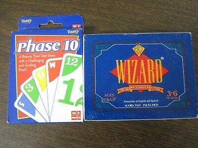Wizard The Ulitmate Game Of Trump And Phase 10 A Rummy-Type Card Game • 14.95$