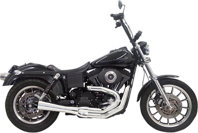 AU1040.79 • Buy Bassani Chrome Road Rage 2-1 Short Exhaust System For 91-05 Harley Dyna FXDB FXD