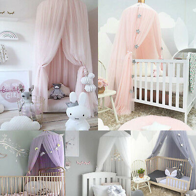 Bed Hanging Canopy Drapes Mosquito Net Mesh Kids Baby Play Fantasy Champion Tent • 19.09£