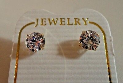 $106.24 • Buy .50 Cts Round Flawless Man Made Diamond Stud Earrings 14k Solid Yellow Gold