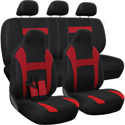 $23.42 • Buy Car Seat Cover Complete Set -Truck SUV Van - Flat Poly Cloth Fabric- 10 Piece